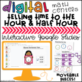 Telling Time to the Hour/Half Hour Digital Centers for Goo