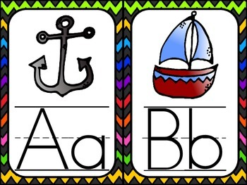 Chevron Theme ABC Posters