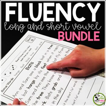 Fluency Passages Grades 1-3 BUNDLE {Long and Short Vowels}