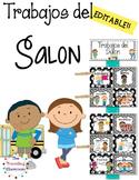 Trabajos del Salon - Editable Spanish Classroom Jobs