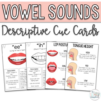 Vowel Sounds Speech Sound Cue Cards For Speech Therapy By The Slt Scrapbook