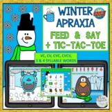 WINTER APRAXIA FEED & SAY + TIC-TAC-TOE BOOM CARDS™