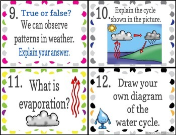 Weather Task Cards with Bonus Digital Option (BOOM cards)