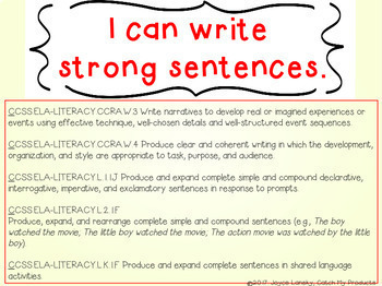 Writing Sentences : Improve Quality in Writing Process for Promethean Board Use