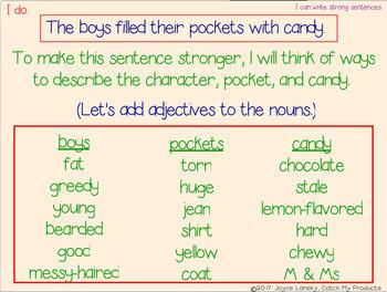 Sentence Building for PROMETHEAN Board Use