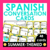 Spanish 1 Review Conversation Cards | Summer-themed Spanis