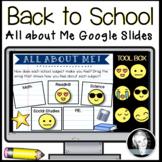 **BACK TO SCHOOL GOOGLE SLIDES! (Distance Learning)