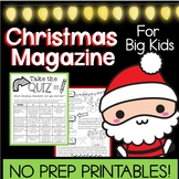 Christmas Magazine *Keep Them Busy!* for Upper Grades