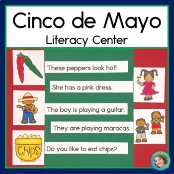 Cinco de Mayo Sentence Picture Match Literacy Center