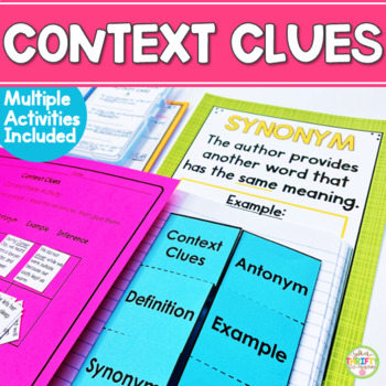 Context Clues Posters: Context Clues Activities (interactive notebook)