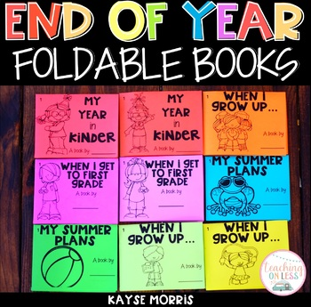 End of the Year Activities  - Books for Kindergarten