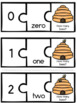 Math Centers Counting and Numbers to 10 - Bee Theme