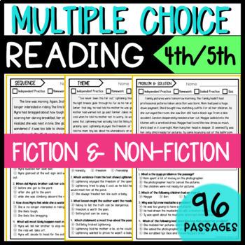 Multiple Choice Reading Bundle Fiction & Non-Fiction