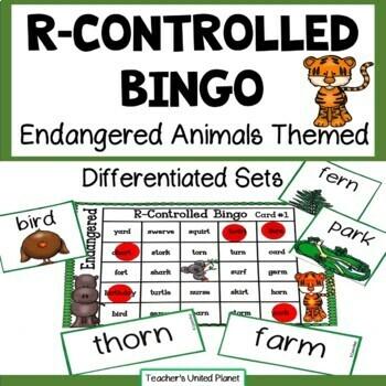 Phonics Bingo - R-Controlled Vowels