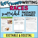 RACES Writing Paragraph Frames EDITABLE Practice DISTANCE LEARNING