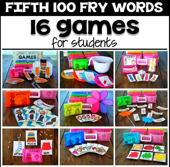 Silly Sight Word Games - Fifth 100 Fry Words