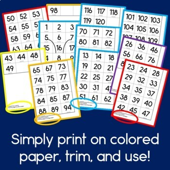 Spring Hundreds Pocket Charts Mystery Pictures
