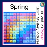 Spring 100s Pocket Chart Mystery Pictures