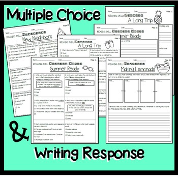 Summer/End of Year Reading Comprehension Packet
