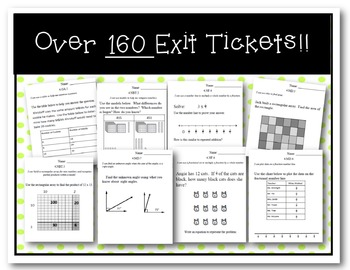 **ALL Learning Targets & Exit Slips Common Core 4th Grade
