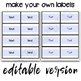Classroom Supply Labels with Pictures Editable Classroom Labels