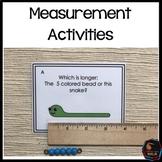 Montessori Measurement: Measurement Activities