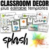 Classroom Decor Bundle EDITABLE | Splash