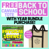 PHYSICAL SCIENCE COMPLETE YEAR CURRICULUM- DIGITAL & PRINTABLE (*EDITABLE)