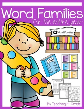 Word Families Year Long Unit- 54 Word Families