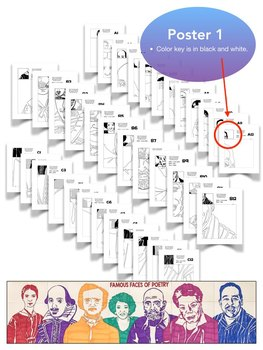 National Poetry Month: Famous Faces® of Poetry Classroom Collaborative Poster