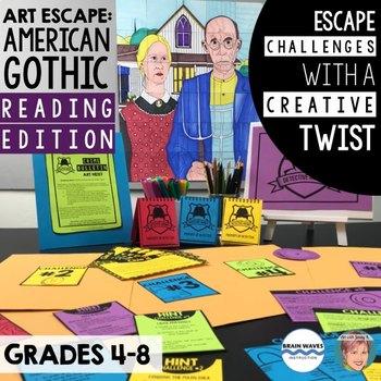 "Art Escape: Grant Wood ""American Gothic"" (Reading Edition) | Escape Room ELA"