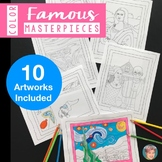 Coloring Pages - 10 Famous Masterpieces from Art History