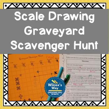 Graveyard Scale Drawing Scavenger Hunt Activity