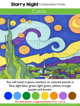 Starry Night by Vincent van Gogh Collaboration Poster
