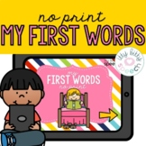 First Words Books (No Print & Distance Learning)