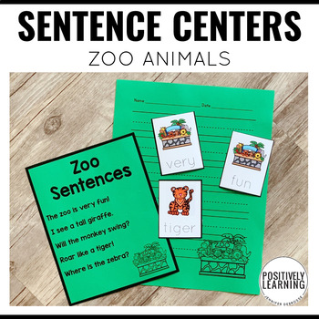 Zoo Animal Sentence Builders