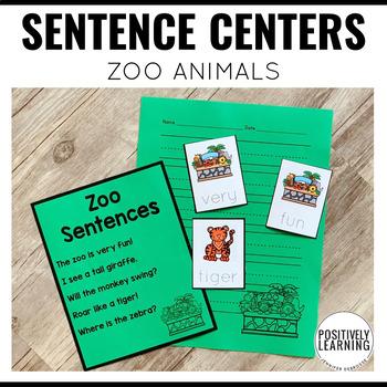 Sentence Building Zoo Animals