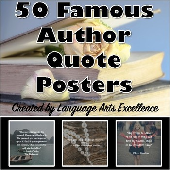 50 Famous Author Quote Posters