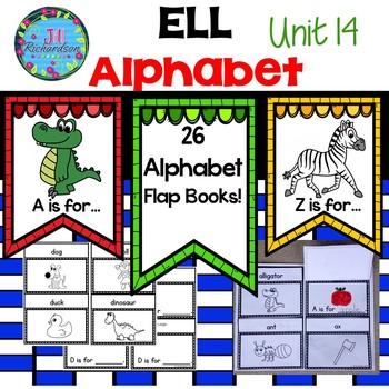 ESL Newcomer Alphabet Interactive Printables (Editable) ELL Resources
