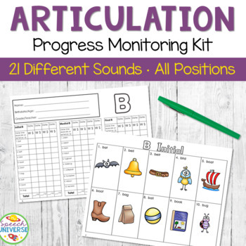 Articulation Progress Monitoring Kit