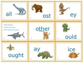 Dinosaur word chunking