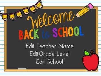 Editable PowerPoint and Parent Handouts: Classic Chalkboard