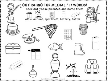 Speech Therapy: Gone Fishing Articulation Unit /B/, /G/, /K/, /M/, /P/, & /T/