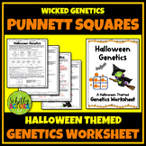 Halloween Punnett Squares Worksheet (Genetics, Genotype, Phenotype)
