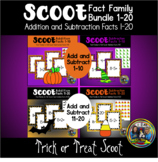 Halloween Math Bundle for Addition and Subtraction to 20
