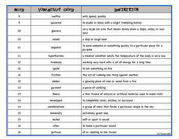Yeti Inferencing & Vocabulary