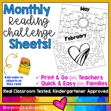 Monthly Reading Log Homework... Simple, Sweet, & Seasonal!