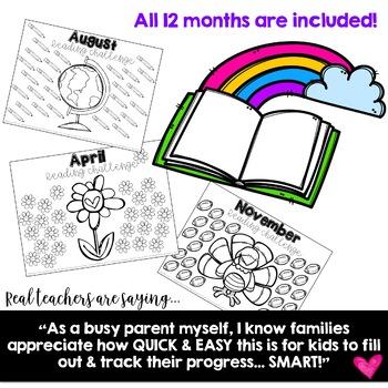 Monthly Reading Log Homework... Simple, Sweet, & Seasonal!