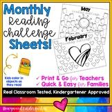 Monthly Reading Log Homework... Simple, Sweet, Seasonal & EDITABLE!