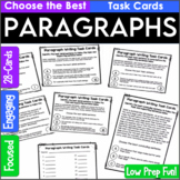 Paragraph Writing Practice   Task Cards